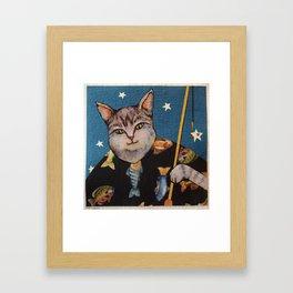 Cat Wishing Framed Art Print