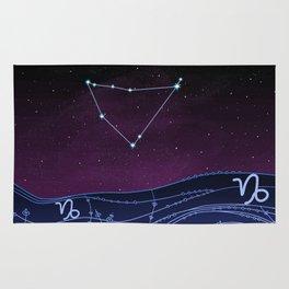 Capricorn Zodiac Constellation Design Rug