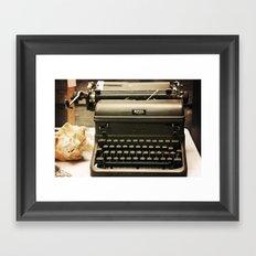 You never write... Framed Art Print
