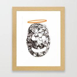 Hole-y Boy Framed Art Print
