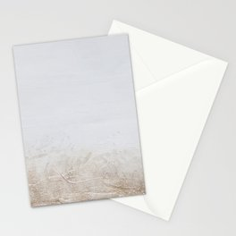 Gold Glitter on White Stationery Cards