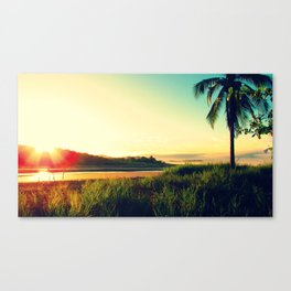 Morning Surf Session Canvas Print