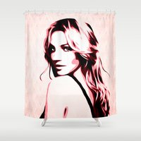 britney spears Shower Curtains featuring Britney Spears - Piece of Me - Pop Art by William Cuccio aka WCSmack