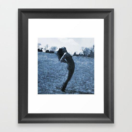 Head Above Water Framed Art Print
