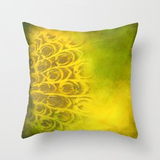 Dirty feathering Throw Pillow