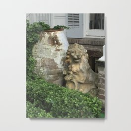 The Lion, the Urn and the Boxwood Metal Print