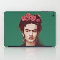 frida iPad Cases featuring Frida by ravynka