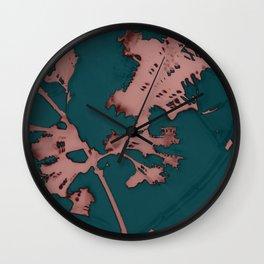 2020 Fall/Winter 01 Teal Wall Clock