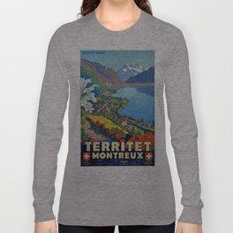 Vintage poster - Territet Montreaux Long Sleeve T-shirt