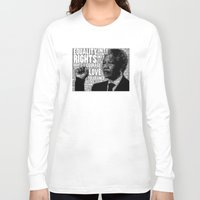 mandela Long Sleeve T-shirts featuring Mandela tribute by WAMTEES