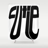 pi Shower Curtains featuring Cutie Pi by Gold Lining
