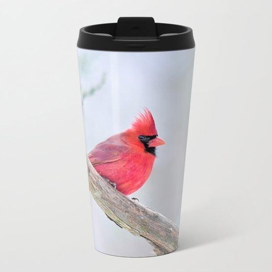 Grumpy Cardinal Metal Travel Mug