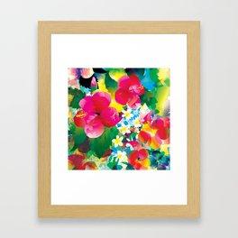 Hawaiian jungle Framed Art Print