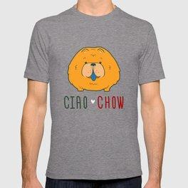 """Ciao Chow"" (Chow Chow) Puppy Dog Emblem T-shirt"