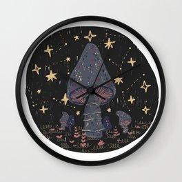 mushroom night Wall Clock