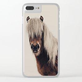 Hi, I'm a Scottish Horse Clear iPhone Case