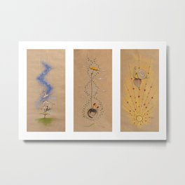 Air of Imagination Nursery Collection - IV Metal Print