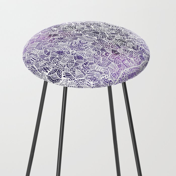 Purple Patches Counter Stool By Jmmdesigns Society6