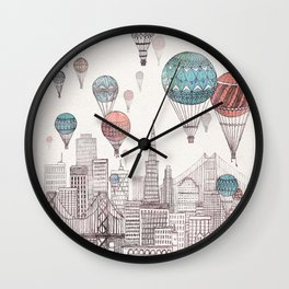 Voyages Over San Francisco Wall Clock