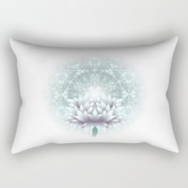 Tibet. Sacred geometry. Flower of Life Rectangular Pillow