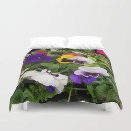 Pansies, Flowers, Bouquet Duvet Cover