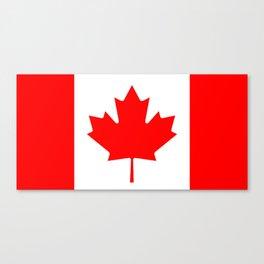 Flag of Canada Canvas Print
