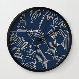 Fill With Authentic Geo Blue Wall Clock