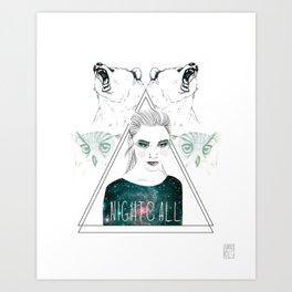 nightcall Art Print