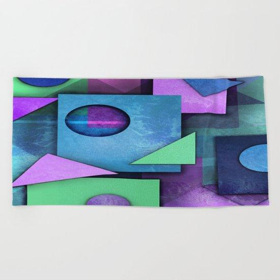Geometric  Chaos Beach Towel