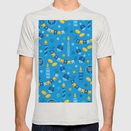 Happy Hanukkah Banner Pattern T-shirt