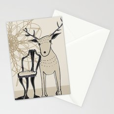 chair and deer Stationery Cards