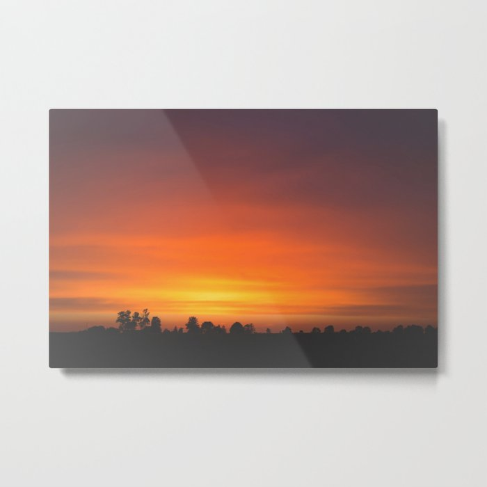 SUNRISE - SUNSET - ORANGE SKY - PHOTOGRAPHY Metal Print