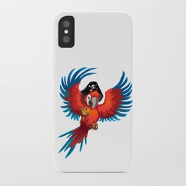 Pirate parrot iPhone Case