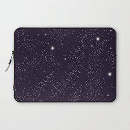Universe with planets and stars seamless pattern, cosmos starry night sky 005 Laptop Sleeve