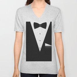 Bow Tie Suit Unisex V-Neck