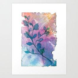 Watercolor Leaves II Art Print