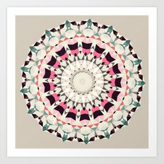 Retro Light Spin (circle week) Art Print