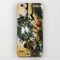 battlefield iPhone & iPod Skins featuring The Battlefield by Fresh Doodle - JP Valderrama