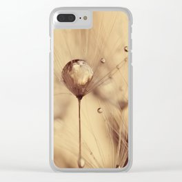 dandelion gold Clear iPhone Case
