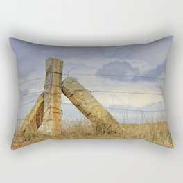 Kansas  Corner Stone Post Fence Rectangular Pillow