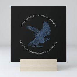 House of the Wise - Black Mini Art Print