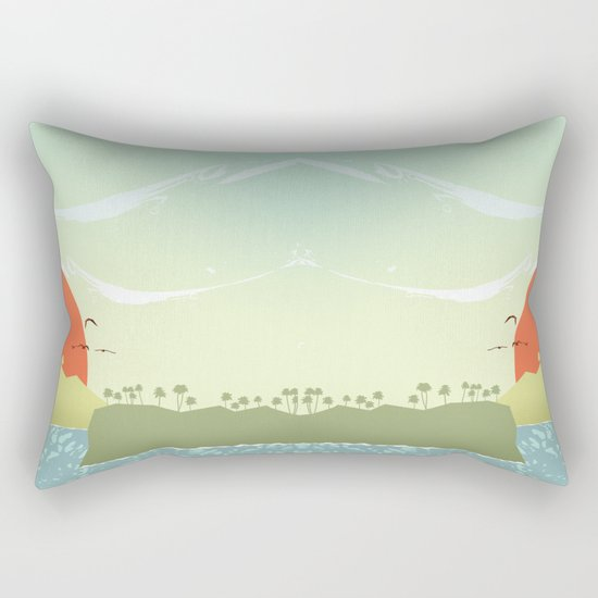 Tropical amor Rectangular Pillow