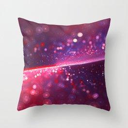 Cowberry Glitter Wave Throw Pillow