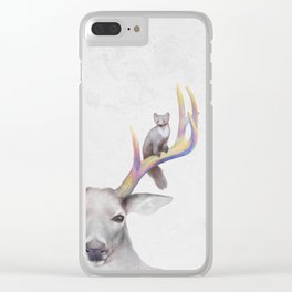 Deer & Marten Woodlan friends Clear iPhone Case