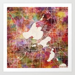 Madison map Art Print