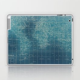 Grunge World Map Laptop & iPad Skin
