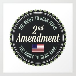 Second Amendment Art Print