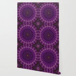 Pretty glowing violet mandala Wallpaper