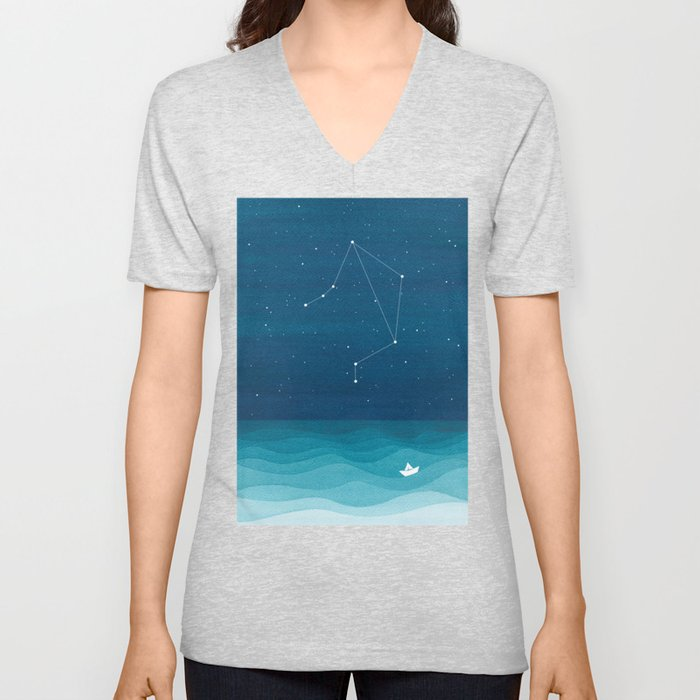 Libra zodiac constellation Unisex V-Neck