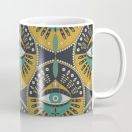 Tribal Evil Eye Pattern Coffee Mug